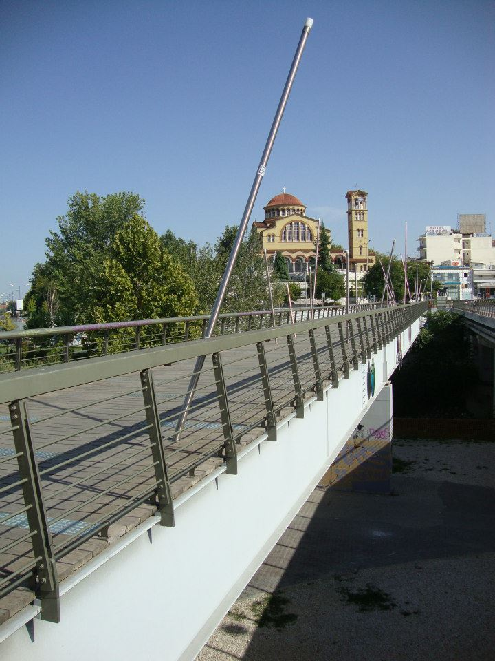 pedestrian bridge in Pinios river, Larissa 2