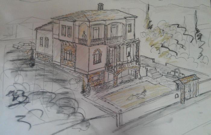 country house, Mountain Olympus, Krania, 2005, Αlexandros Tzimoziogas Civil Engineer, Αλέξανδρος Τζιμοζιώγας Πολιτικός Μηχανικός